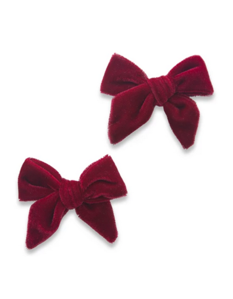Baby Bling 2 pack Velvet Knot Bow Clip (more colors available)