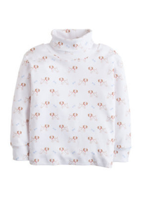 Little English Little English Puppy Printed Turtleneck