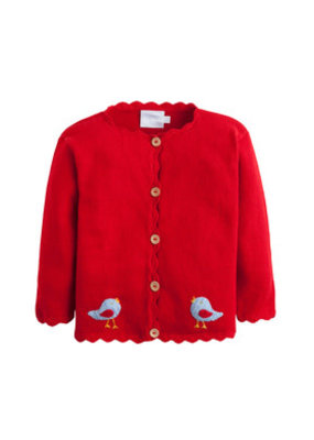 Little English Little English Birdie Crochet Sweater