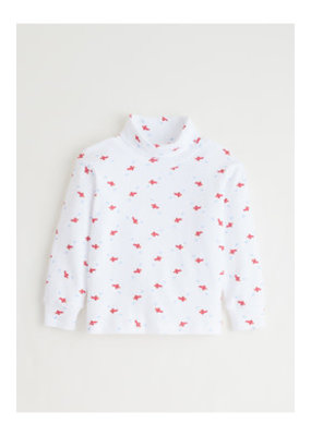 Little English Little English Airplane Printed Turtleneck