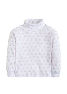 Little English Little English Swan Printed Turtleneck