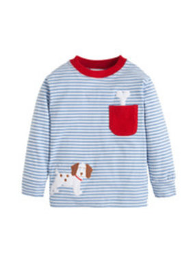 Little English Little English Puppy Pocket Applique Tee