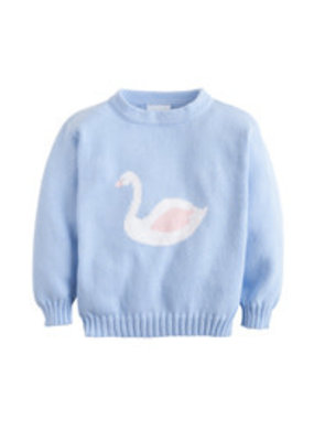 Little English Little English Swan Intarsia Sweater
