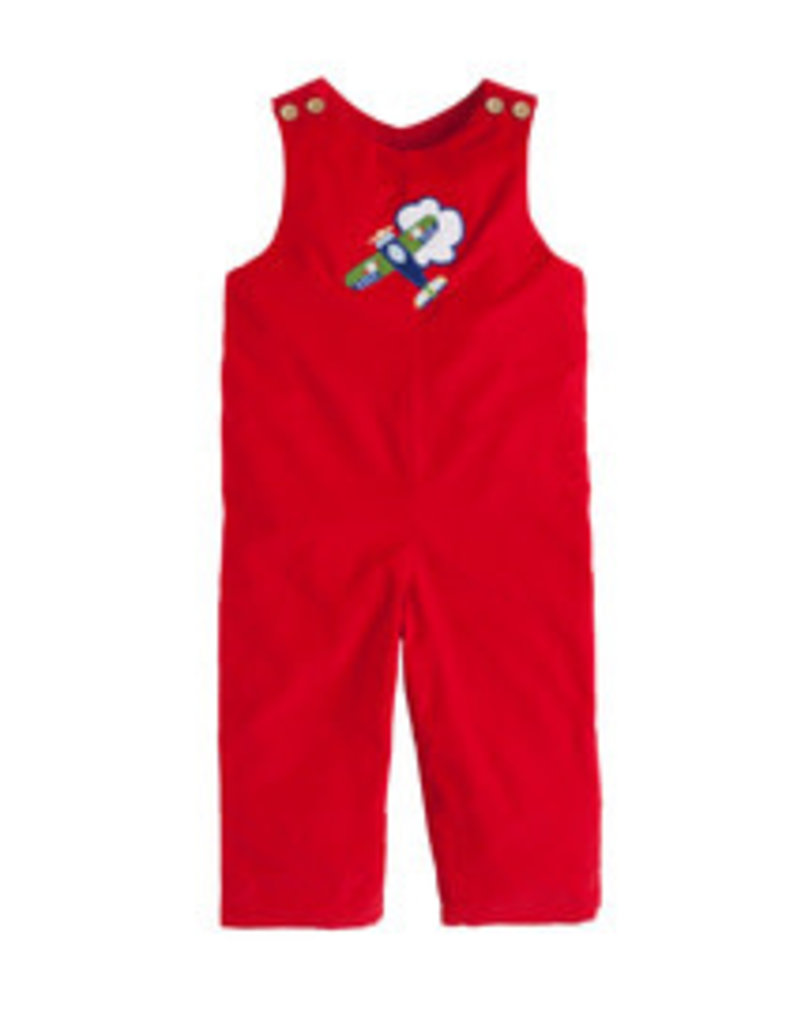 Little English Little English Airplane Applique Overall