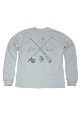 Properly Tied Properly Tied Lil Ducklings Sporting Essentials Long Sleeve Tee Gray
