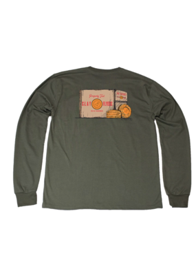 Properly Tied Properly Tied Lil Ducklings Clay Flyers Long Sleeve Tee Olive