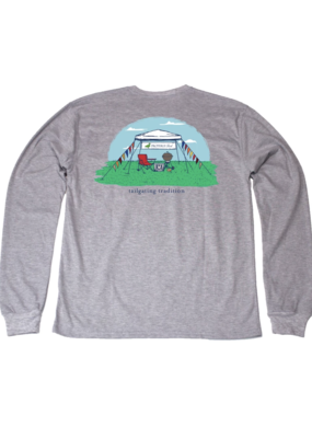 Properly Tied Properly Tied Lil Ducklings Tailgating Tradition Long Sleeve Tee Gray