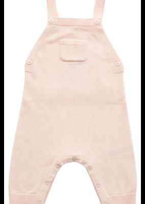 Angel Dear Angel Dear Ruffle Pocket Overall Knit Lt Pink
