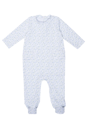 Lila and Hayes Lila and Hayes Preston Boy Footed romper Blue Green Twinkie