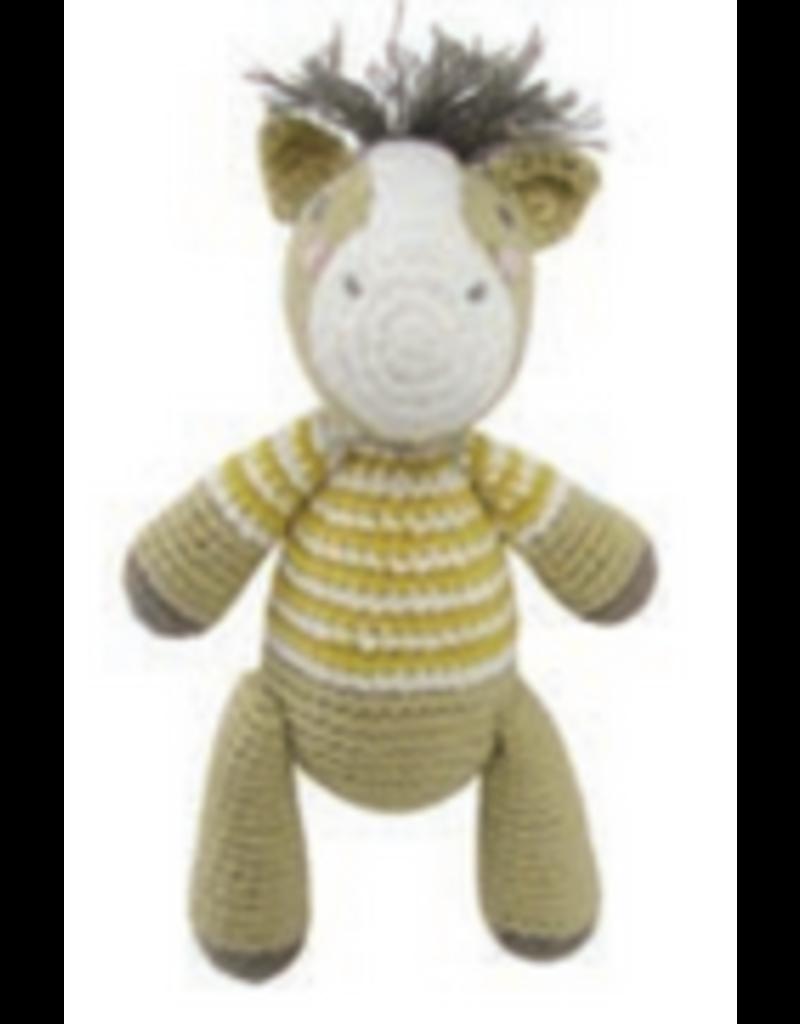 Albetta Albetta Crochet Horse Rattle Yellow