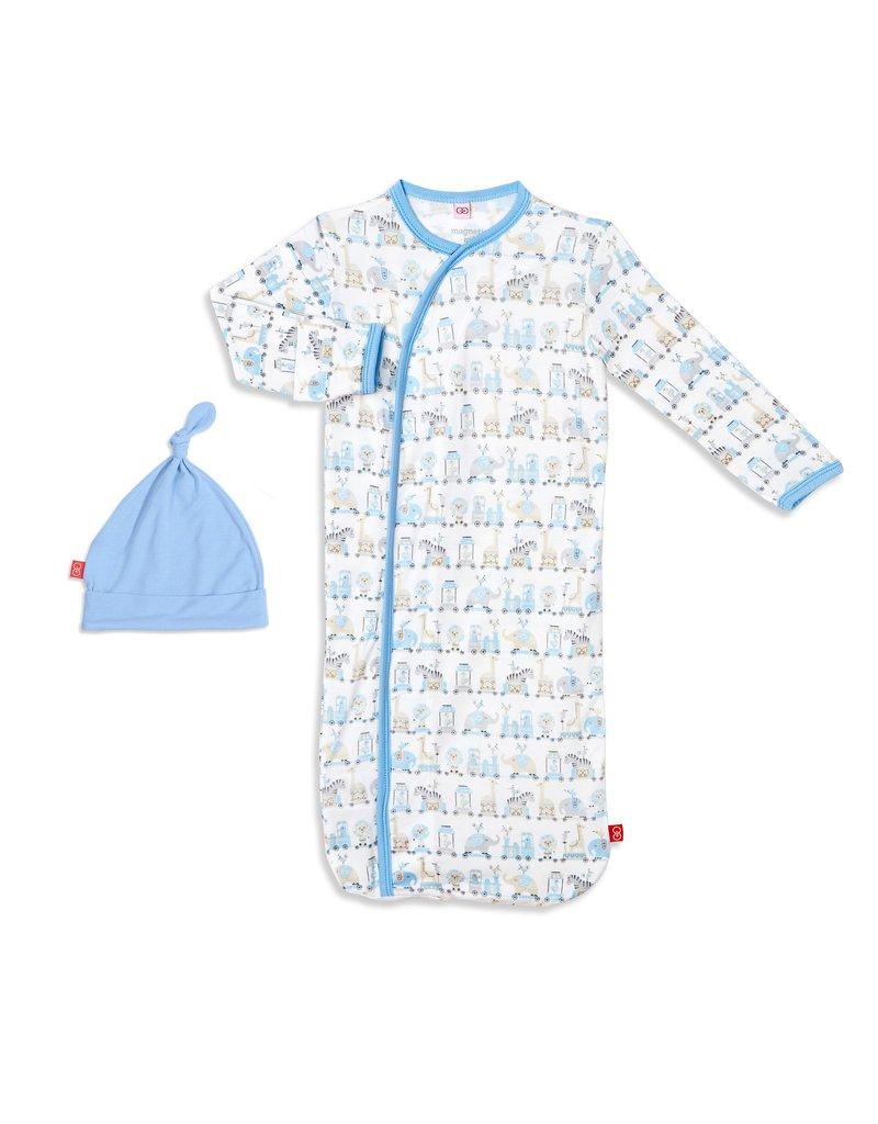 Magnetic Baby Magnetic Me Blue Taj Express Modal Sack Gown Set