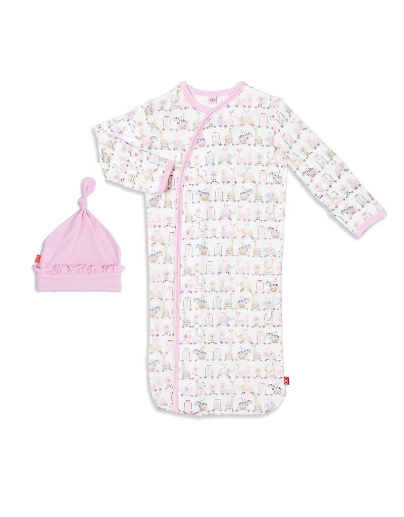 Magnetic Baby Magnetic Me Pink Taj Express Modal Sack Gown Set