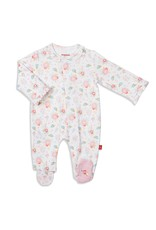 Magnetic Baby Magnetic Me Nottingham Floral Organic Cotton Magnetic Footie