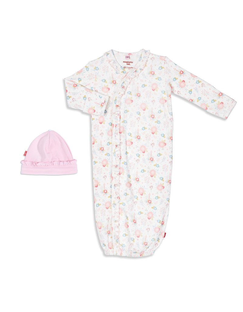Magnetic Baby Magnetic Me Nottingham Floral Organic Cotton Gown Set