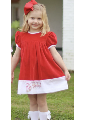 Christian Elizabeth & Co Christian Elizabeth & Co. Twas the Night Before Christmas Dress Red Velvet