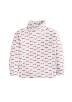 Little English Little English Fox Printed Turtleneck