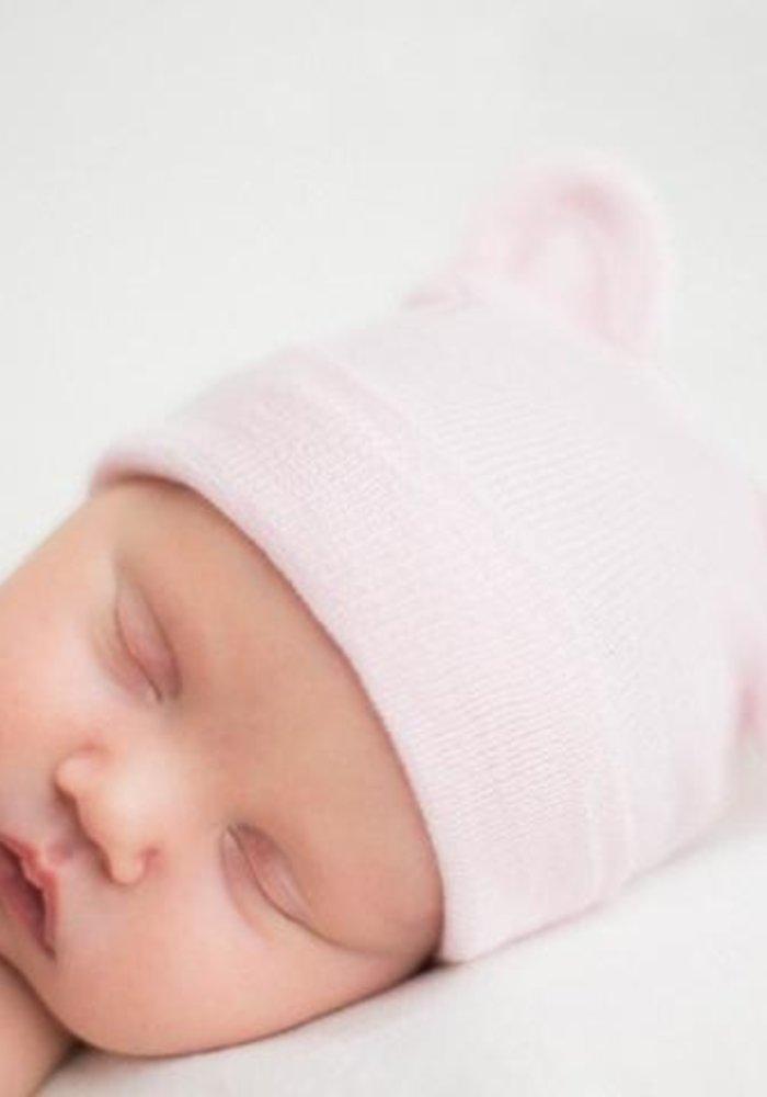 Ilybean Pink Bear Hat Beanie