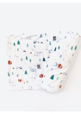 Angel Dear Angel Dear Little Campers Swaddle Blanket