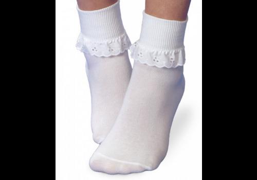 Jefferies Socks Jefferies Eyelet Lace Socks in White