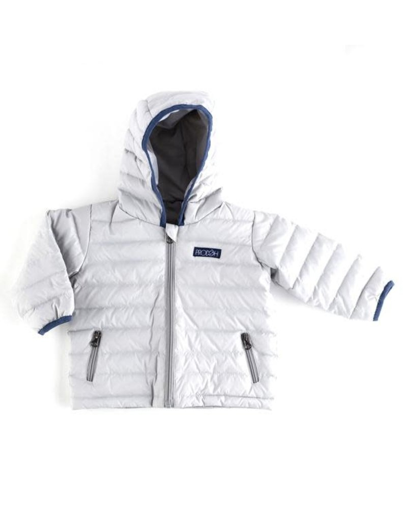 Prodoh Prohoh Hooded Puffer Jacket Quiet Gray/Navy Trim