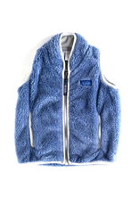 Prodoh Prohoh Boy's Sherpa Vest in Colony Blue/Gray Trim