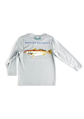 Prodoh Prodoh Boys Seatrout Long Sleeve Performance Tree in Quiet Gray