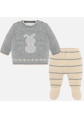 Mayoral Mayoral Boy Knit Gaiters Set Creme/Bunny/Grey