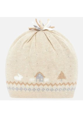Mayoral Mayoral Boy Knit Cap House Cream/Yellow
