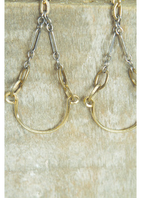 Mark Edge Mark Edge Small Teardrop Vintage/Ster Silver Earrings