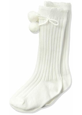 Jefferies Socks Jeffries Pom Pom Sock in White