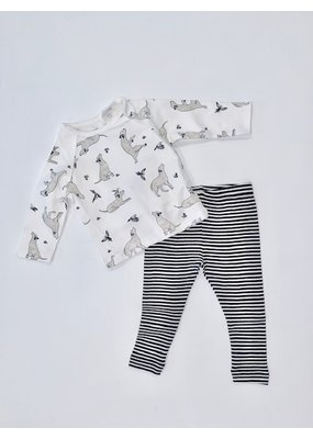 Viverano Viverano Kai Dog/Hummingbird Tee/Legging Set