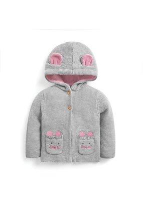 Jojo Mama JoJo Maman Bebe Girls' Cozy Mouse Cardigan