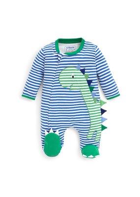 Jojo Mama JoJo Maman Bebe Dinosaur Applique Zipper Baby Footie