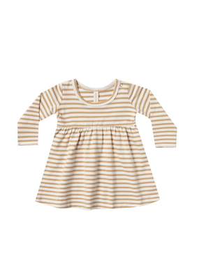 Quincy Mae Quincy Mae Baby Dress in Honey Stripe