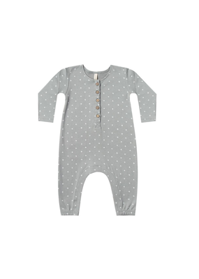 Quincy Mae Quincy Mae Longsleeve Jumpsuit in Dusty Blue