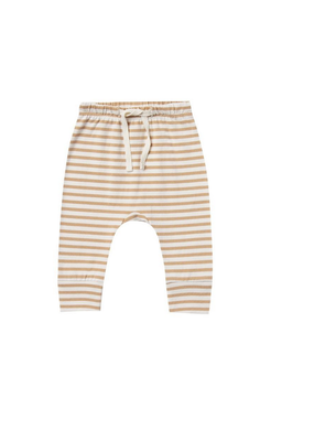Quincy Mae Quincy Mae Drawstring Pant in Honey Stripe
