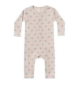 Quincy Mae Quincy Mae Ribbed Baby Jumpsuit in Stone
