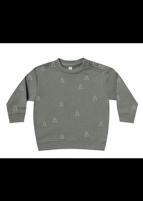 Quincy Mae Quincy Mae Fleece Basic Sweatshirt Eucalyptus
