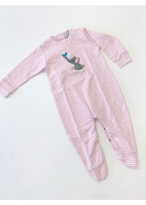 Squiggles Squiggles Girl Elephant & Bird Footed Coverall