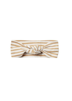Quincy Mae Quincy May Baby Turban in Honey Stripe