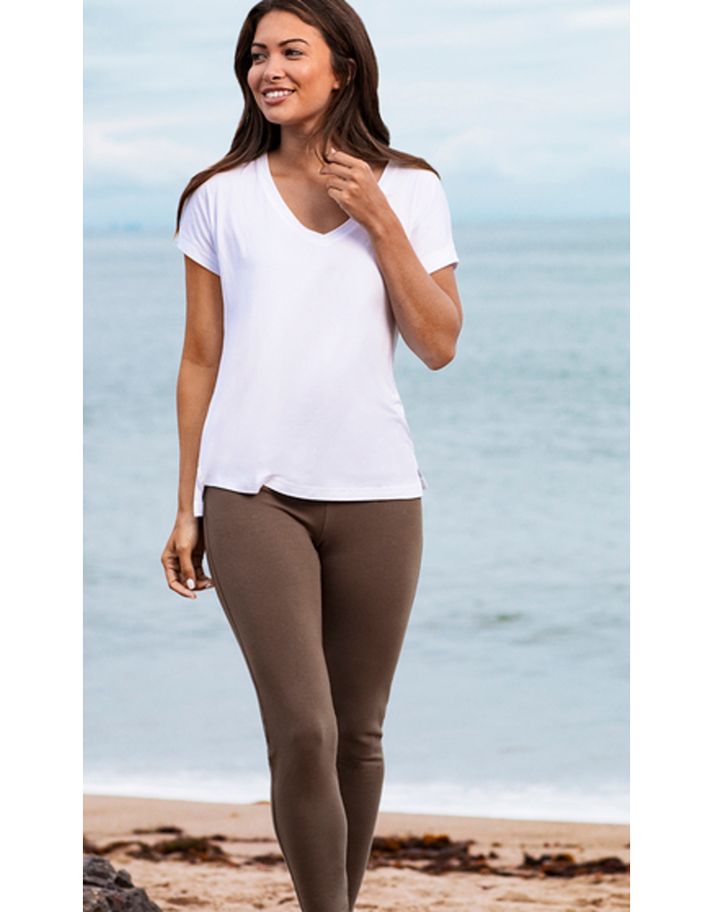 Barefoot Dreams Barefoot Dreams Malibu Collection Women's Skinny Stretch Pant Earth