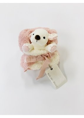 Barefoot Dreams Barefoot Dreams CozyChic Pocket Buddie Dusty Rose/Puppy