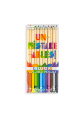 ooly Ooly Un-mistake-ables Erasable Colored Pencils Set of 12