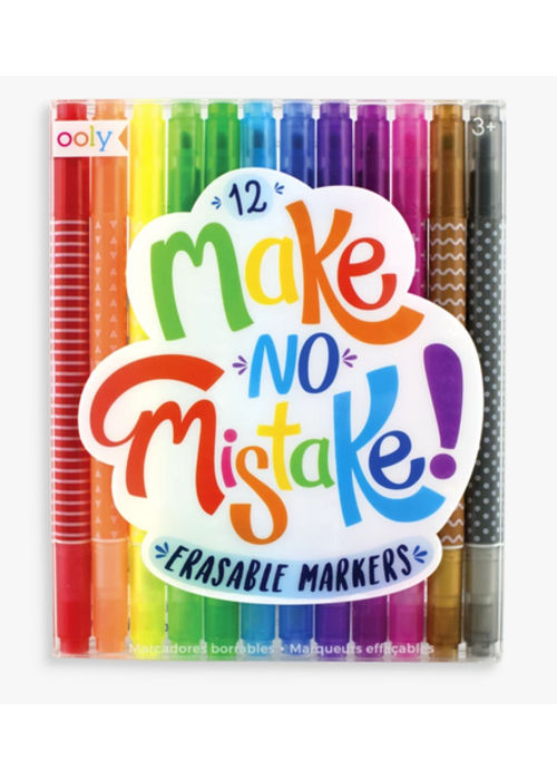 ooly Ooly Make No Mistake Erasable Markers - set of 12