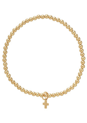 ENewton Classic Gold 3mm Bead Bracelet Believe Charm