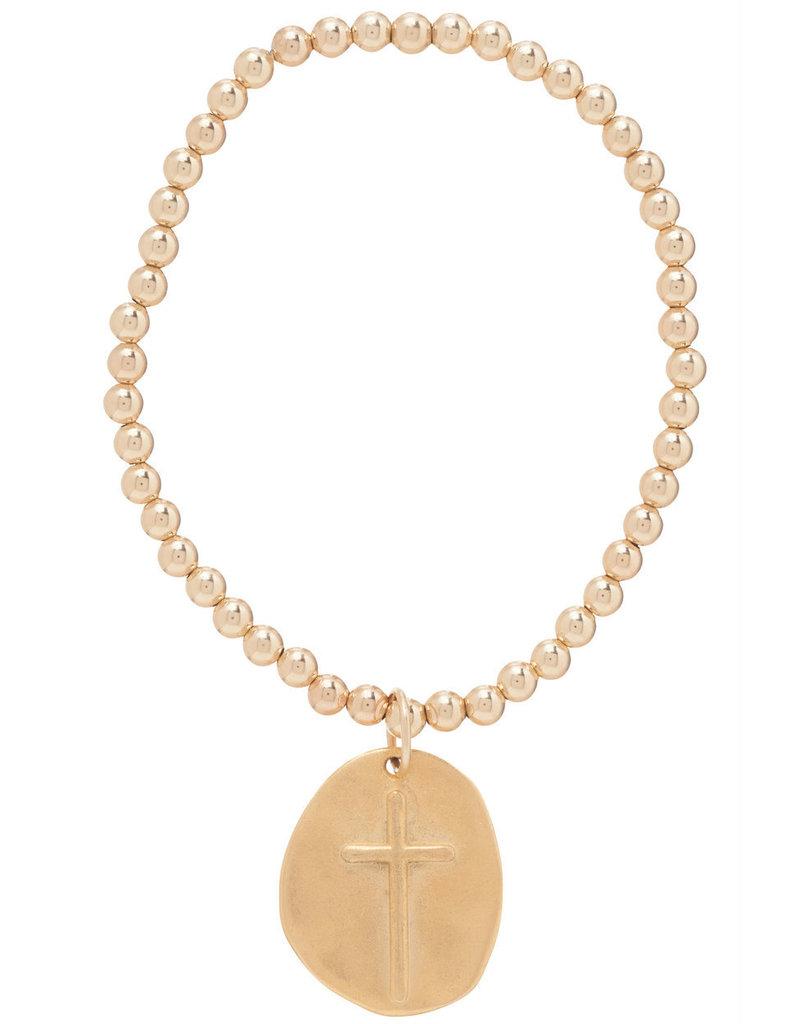 ENewton Classic Gold 4mm Bead Bracelet Inspire Charm