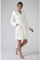 Pretty You London Cloud Robe with Hood - Cream