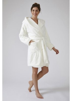 Pretty You London Pretty You London Cloud Robe with Hood - Cream