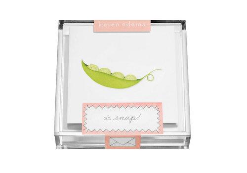 "Karen Adams Karen Adams Acrylic Box Enclosure Cards ""Peas"""