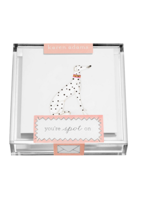 "Karen Adams KA Acrylic Box Enclosure Cards ""Dog"""